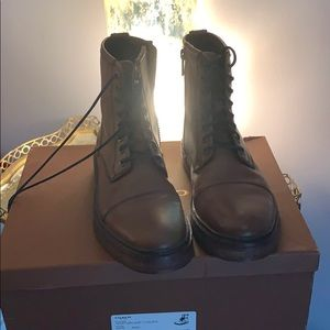 Size 7M or 9W authentic Coach leather boots
